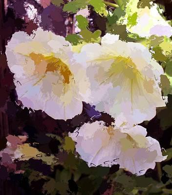 Yellow Petunias Poster by Carol Grimes