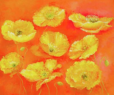 Yellow Poppies Poster by Jan Matson