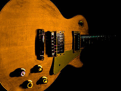 Yellow Relic Guitar Hover Series Poster
