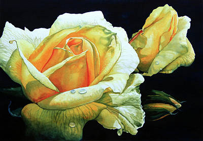 Yellow Roses Poster by Hanne Lore Koehler