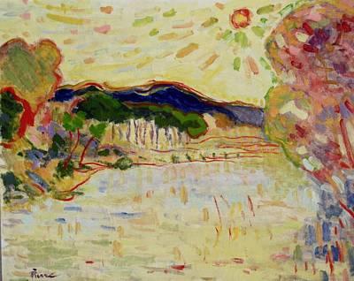 Beynac Et Cazenac , Dordogne , Yellow Sunshine  Poster