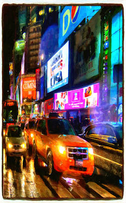 Yellow Taxi Cabs  Poster