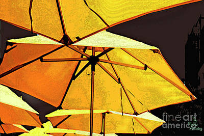 Yellow Umbrellas Poster