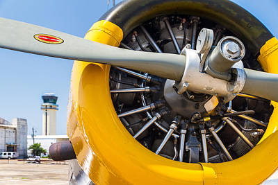 Yellow Valiant Cowling Poster by Tim Stanley
