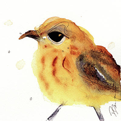 Poster featuring the painting Yellow Warbler by Dawn Derman