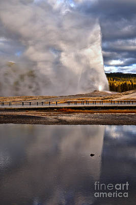 Yellowstone Reflections Under The Storm Poster