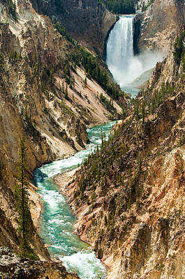 Yellowstone Waterfalls Poster by Sebastian Musial