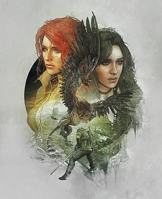 Yennefer And Triss Poster by Lobito Caulimon