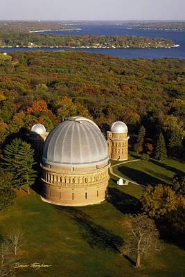 Yerkes Observatory - Aerial View - Lake Geneva Wisconsin Poster