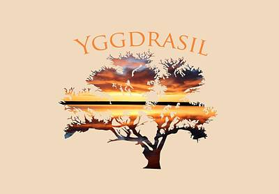 Yggdrasil- The World Tree 2 Poster by Whispering Peaks Photography