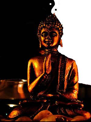 Yin Yang Buddha Poster by Vijay Sharon Govender