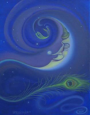 Yin Yang Moon Poster