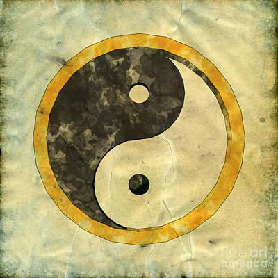 Yin Yang Pop Art By Mary Bassett Poster