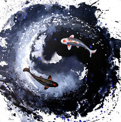 Yin - Yang Poster by Sandi Baker