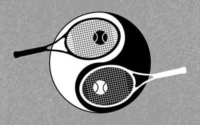 Yin Yang Tennis Poster by Carlos Vieira