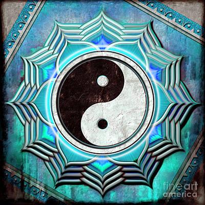 Yin Yang -  The Healing Of The Blue Chakra Poster by Dirk Czarnota