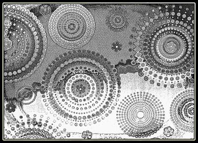 Yingyang Life Swirl Bw Poster by Diann Fisher