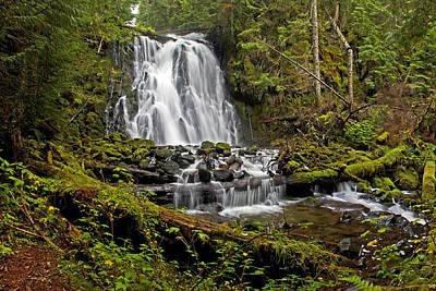 Yocum Falls. Oregon Poster by Ulrich Burkhalter