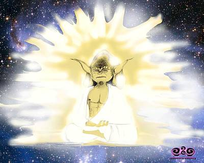Yoda Budda Poster