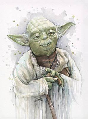 Yoda Poster by Olga Shvartsur