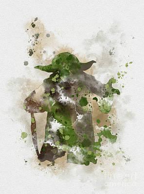 Yoda Poster by Rebecca Jenkins