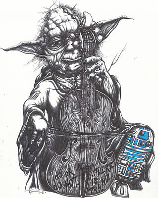 Yoda Soothes Baby R2 With The Charm Of His Homegrown Cello Poster