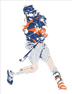 Yoenis Cespedes New York Mets Pixel Art 2 Poster
