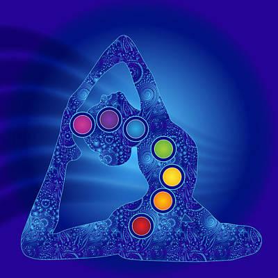 Yoga Pose Chakra Poster