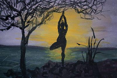 Yoga Tree Pose Poster