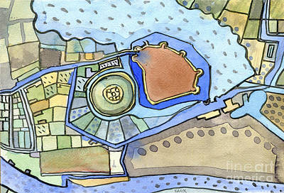 York Castle Map Poster by Elizabetha Fox