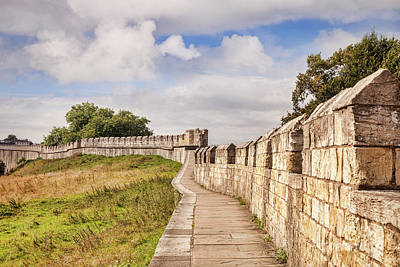 Poster featuring the photograph York City Walls, England by Colin and Linda McKie