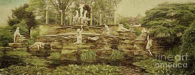 York House Gardens Statues - Twickenham Poster