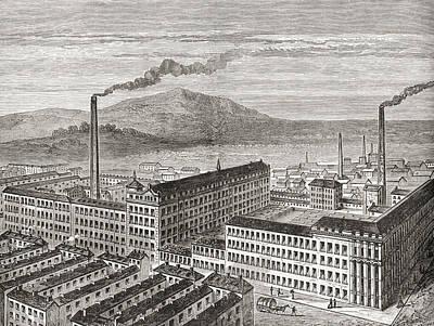 York Street Mill, Belfast, Northern Poster by Vintage Design Pics