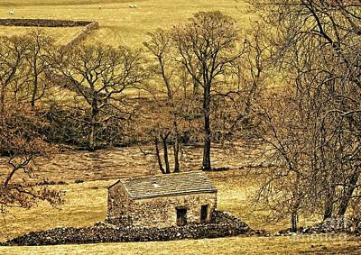 Yorkshire Dales Stone Barn Poster by Martyn Arnold