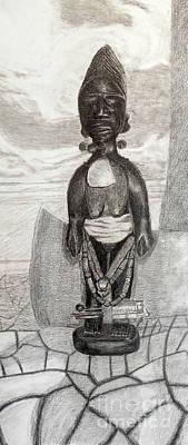 Yoruba Ibeji Female Poster by Duwayne Washington