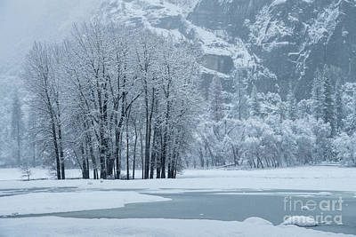 Poster featuring the photograph Yosemite - A Winter Wonderland by Sandra Bronstein
