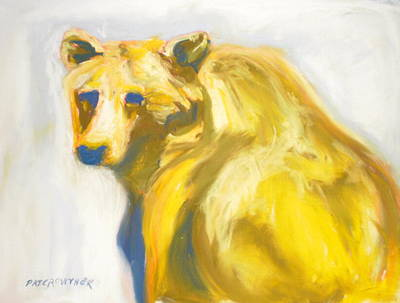 Poster featuring the pastel Yosemite Bear by Pat Crowther