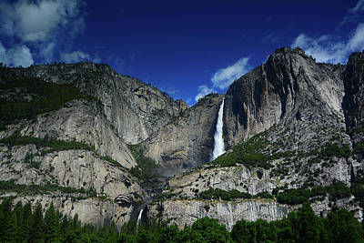 Yosemite Falls From Cook's Meadow Poster