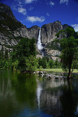 Yosemite Falls From Near Swinging Bridge Poster by Raymond Salani III