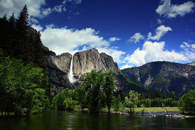 Yosemite Falls From Swinging Bridge Poster