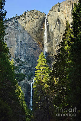 Yosemite Falls With Late Afternoon Light In Yosemite National Park. Poster