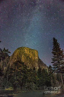 Yosemite Half Dome Milkyway Poster