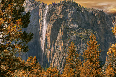 Poster featuring the photograph Yosemite In Fall by Michael Cleere