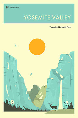 Yosemite National Park Poster Poster by Jazzberry Blue