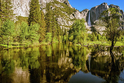 Yosemite Reflections On The Merced River Poster