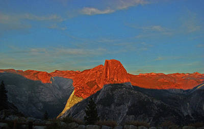 Poster featuring the photograph Yosemite Summer Sunset Abstracted 1 by Walter Fahmy
