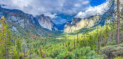 Yosemite Tunnel View Spring Storm Poster