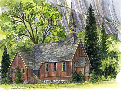 Yosemite Valley Chapel Poster by Mark Jennings