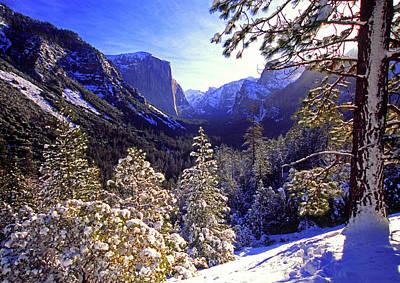 Yosemite Valley In Winter, California Poster