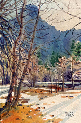 Yosemite Valley In Winter Poster by Donald Maier